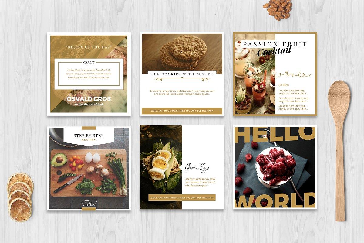 Food Social Media Pack ~ Instagram Templates ~ Creative Market