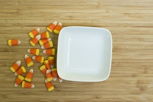 Halloween Dish with Candy Corn