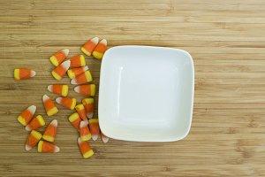 Halloween Dish with Candy Corn