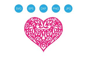 Heart SVG Cutting File for Cricut