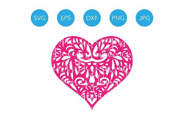 Heart Svg Cutting File For Cricut Pre Designed Illustrator Graphics Creative Market
