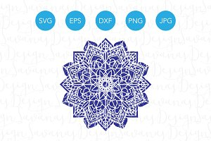 Flower Mandala SVG Cut Files and PNG