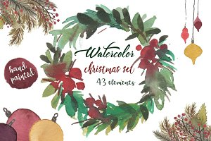 Watercolor Christmas collection!