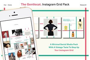 The Gentlecat. Instagram Grid Pack