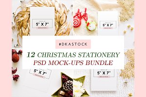 Christmas Stationary Mockups - BDL8