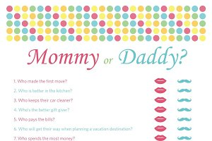Mommy or Daddy? Baby Shower Games
