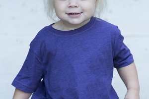 Toddler Girl in Solid Purple Shirt
