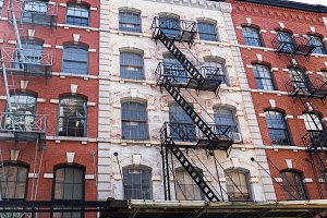 Old Houses at Tribeca, NYC