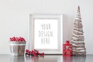 Frame Mockup Christmas Theme