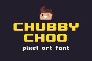 Chubby Choo - Pixel Art Font