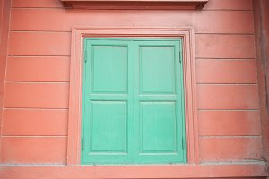 Green window.