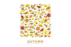 Autumn cute paper cut background.