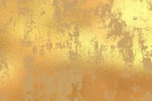 Gold grunge foil background