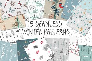 15 Seamless Winter Patterns!