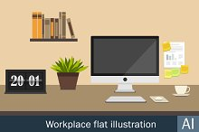 Workplace flat icons