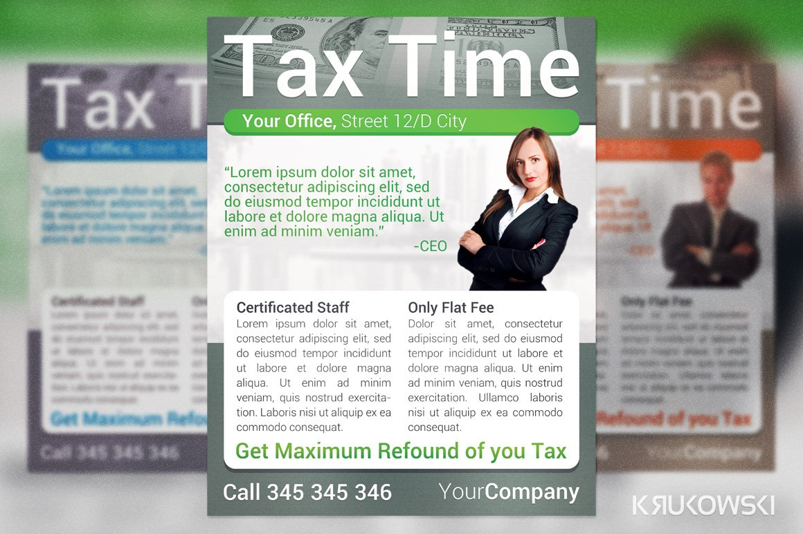 Tax time flyer flyer templates creative market fandeluxe Images