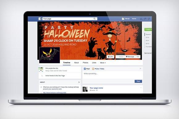 Halloween Facebook Timeline