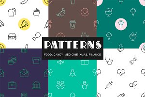 6 Simple line patterns