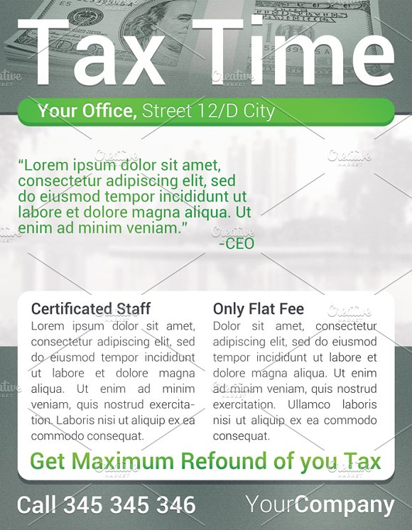 Tax time flyer flyer templates creative market fandeluxe Choice Image