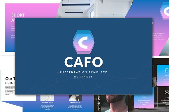 Cafo Business Powerpoint Template ~ Presentation Templates ...
