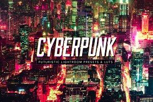 10 Cyberpunk Lightroom Presets LUTs
