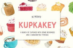Kupkakey Pack (Fonts + Illustration)