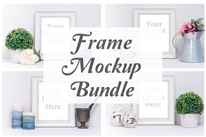 White Frame Mockup Bundle (5 Pack)