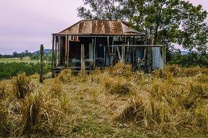 Abandoned outback farming shed.