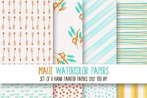 Maize Watercolor Paper Set