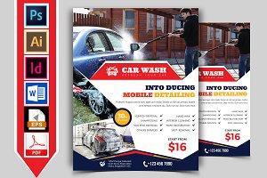 Car Wash Flyer Template Vol-08