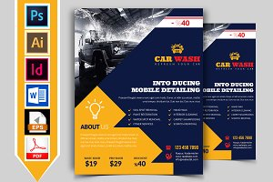 Car Wash Flyer Template Vol-09