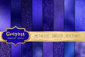 Metallic Indigo Textures