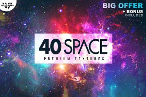 40 SPACE GALAXY Textures + BONUS