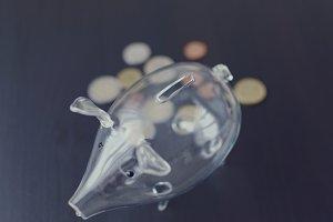 Glass piggy bank 3