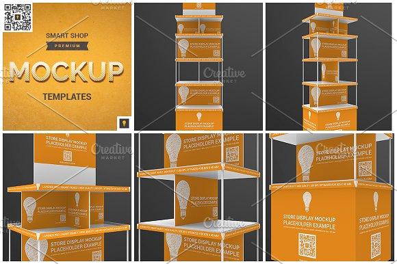 Free Store Display Mockup