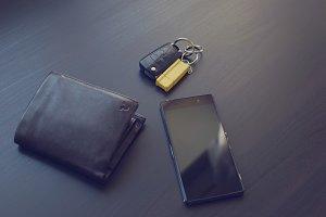 Phone, wallet and car keys 1