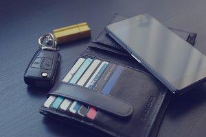 Phone, wallet and car keys 3
