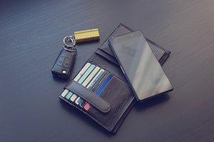 Phone, wallet and car keys 2