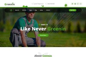 Greenin - Gardening HTML Template