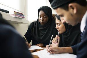 Diverse muslim children concept