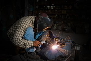 welder at work