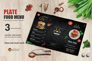 Plate food Trifold