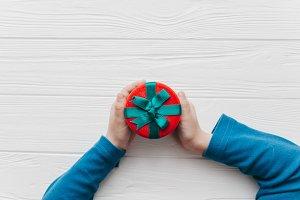 Christmas concept. felt toys