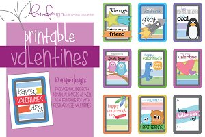 Kids' Printable Valentines