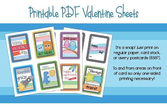 Kids Printable Valentines Illustrations Creative Market