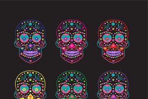 Sugar skull collection