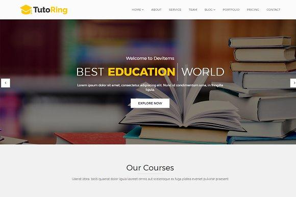 tutoring education html template html css themes creative market