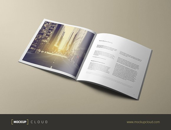 Free Square Brochure Mock-Up
