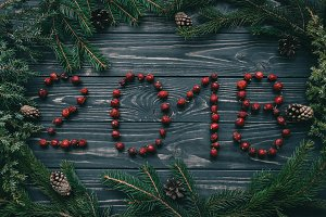"christmas inscription ""2018"""