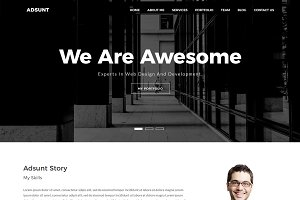 Adsunt – One Page Portfolio Template